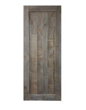 Porte en vrai bois gris